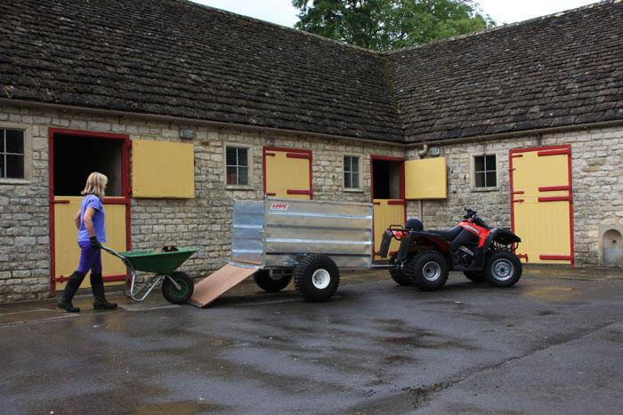 Kiepwagen quad