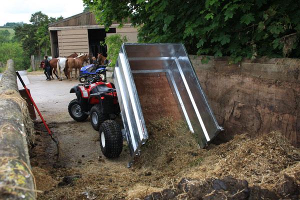 Kiepwagen quad ATV